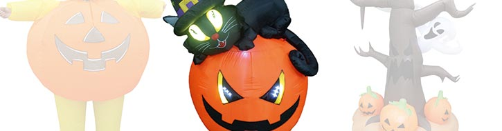 Halloween-Großobjekte mit Gebläse